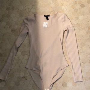 Cream Long Sleeve Body Suit